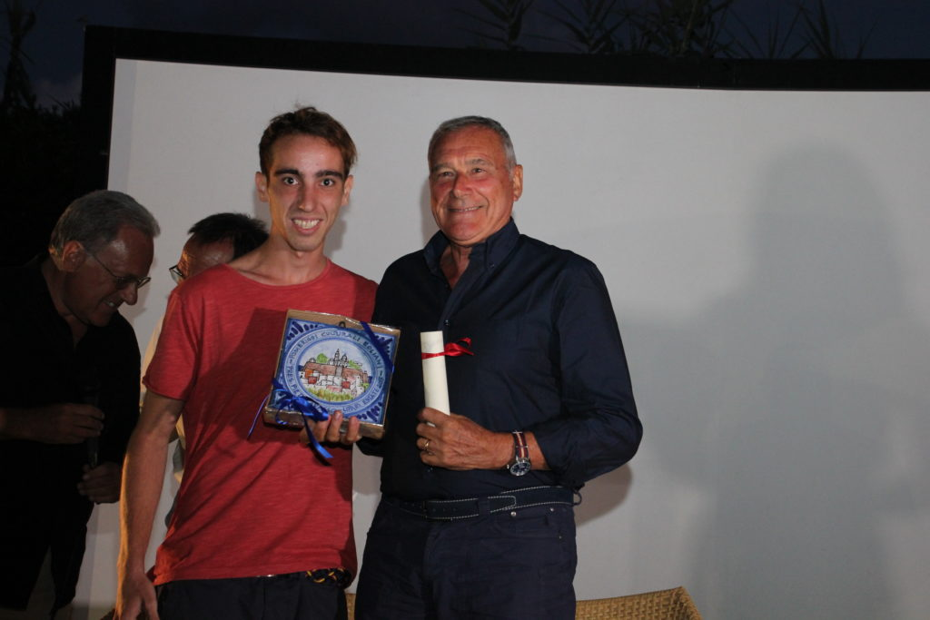 Pietro Grasso con Mattia Paino del Centro studi