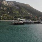 il porto di Vulcano con il pontile degli aliscafi inagibile da settembre 2015