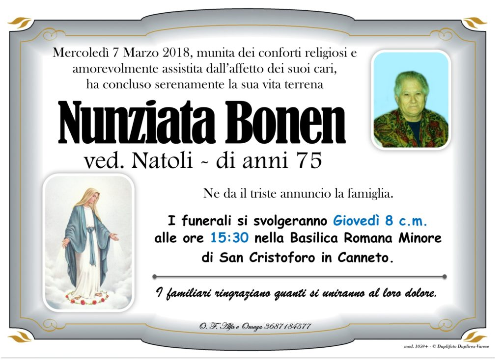 26 - B con foto (Bonen Nunziata)