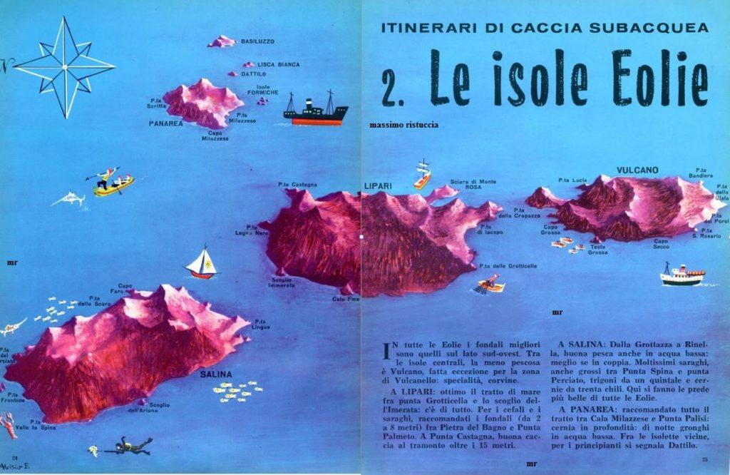 le isole eolie cartina parziale 1 parte articolo