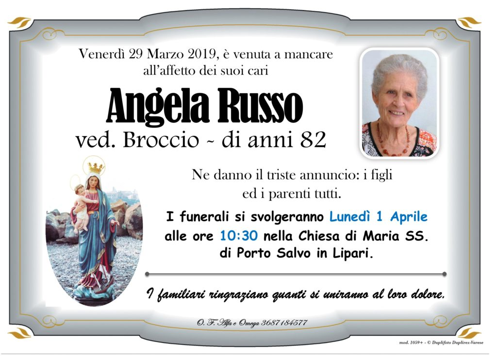 26 - D con foto (Russo Angela ved. Broccio)