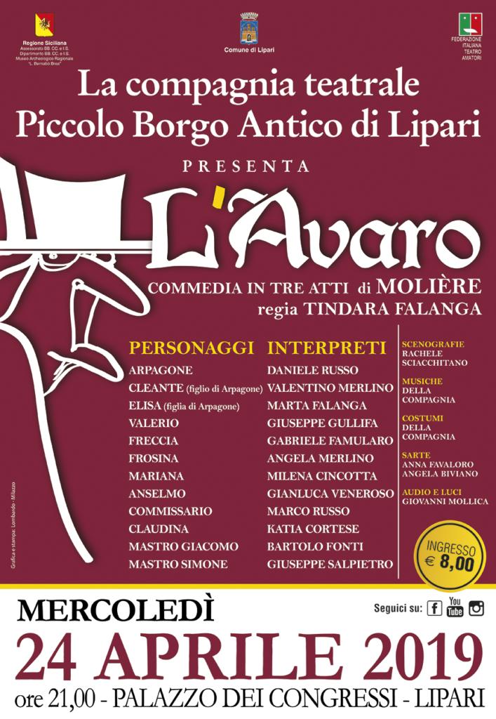 LOC L'AVARO Piccolo Borgo 24 APRILE