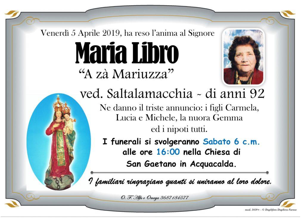 Libro Maria ved. Saltalamacchia