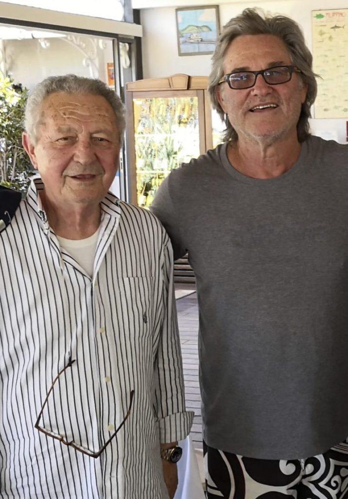Kurt Russell con Antonio Bernardi