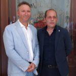 Il neo assessore Massimo Taranto col sindaco Marco Giorgianni