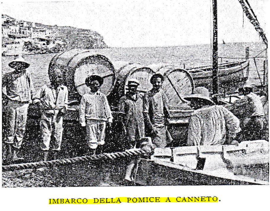 imbarco della pomice a canneto
