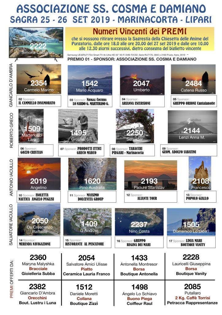 NUMERI VINCENTI Premi 2019 (1)