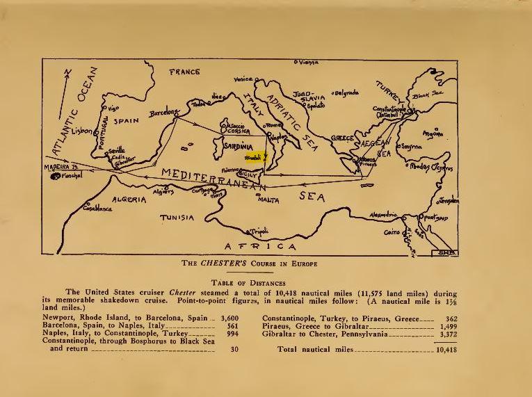 cartina crociera