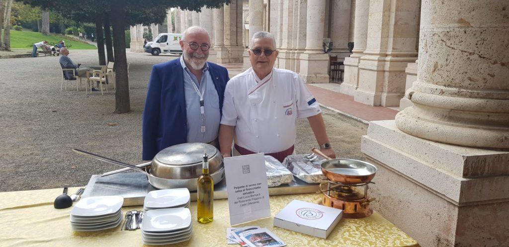 Lo chef Lucio Bernardi con Luigi Franchi