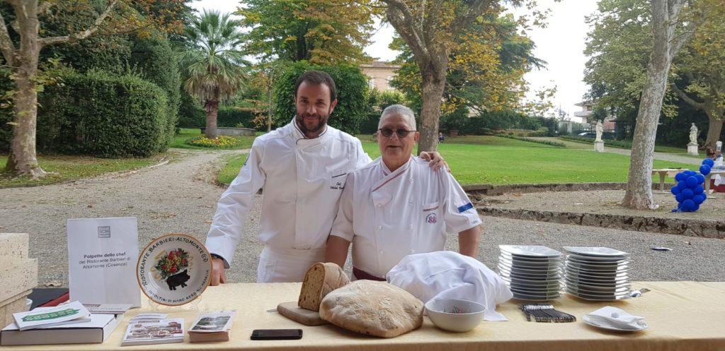Lo Chef  con Michele Barbieri del ristorante Barbieri di Altomonte