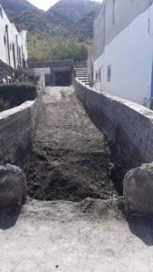 Il torrente nella zona di San Gaetano ripulito
