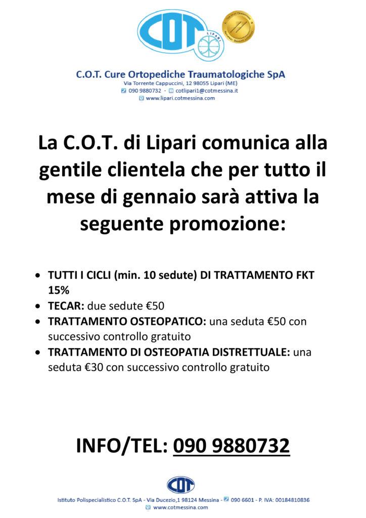 COT Lipari : visite ambulatoriali di gennaio 5
