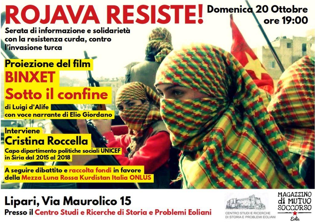 locandina solidarietà curdi