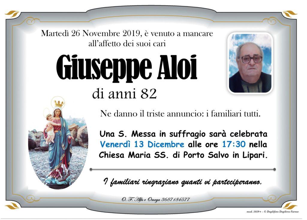 (Aloi Giuseppe - messa in suffragio)