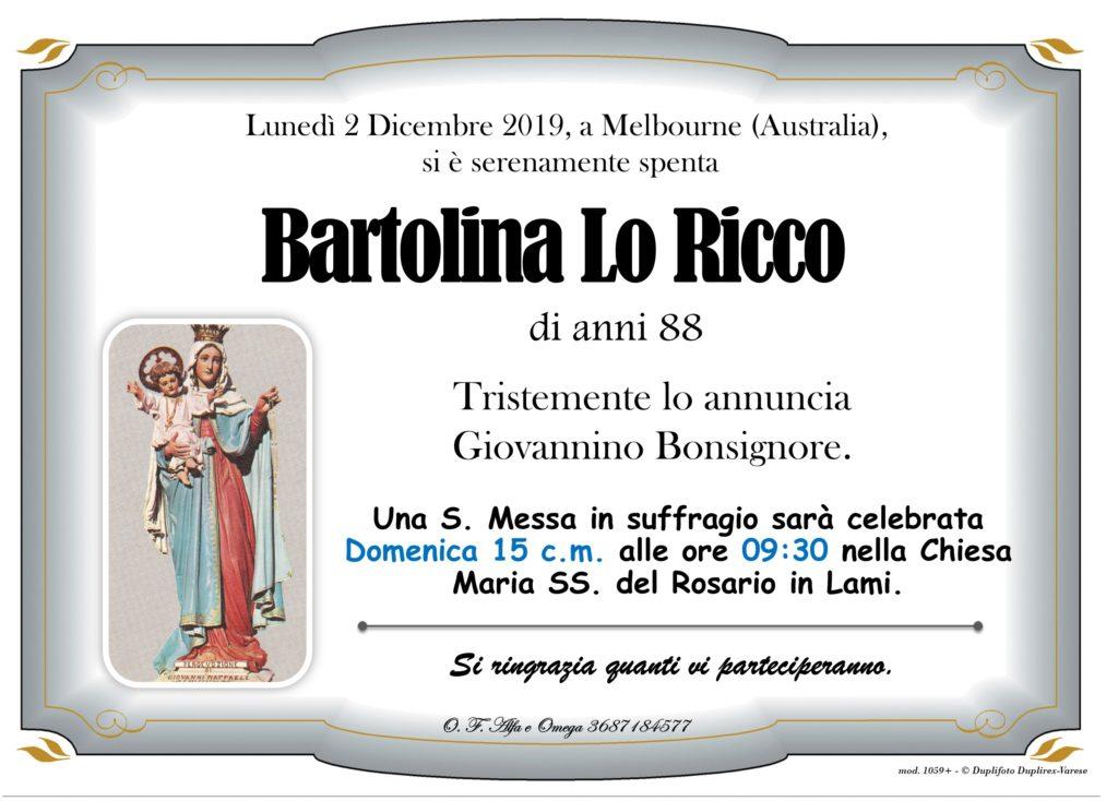 Messa suffragio (Lo Ricco Bartolina)