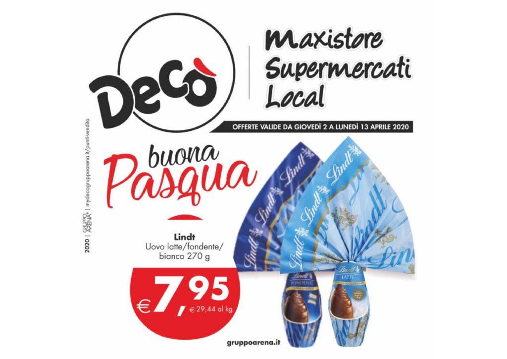 Supermercati Decò: le offerte fino al 13 aprile 23