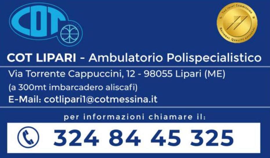 COT Lipari :  le visite ambulatoriali di giugno 2