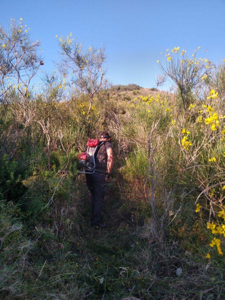 Guide Agaie di Nesos intervengono sui sentieri non percorribili