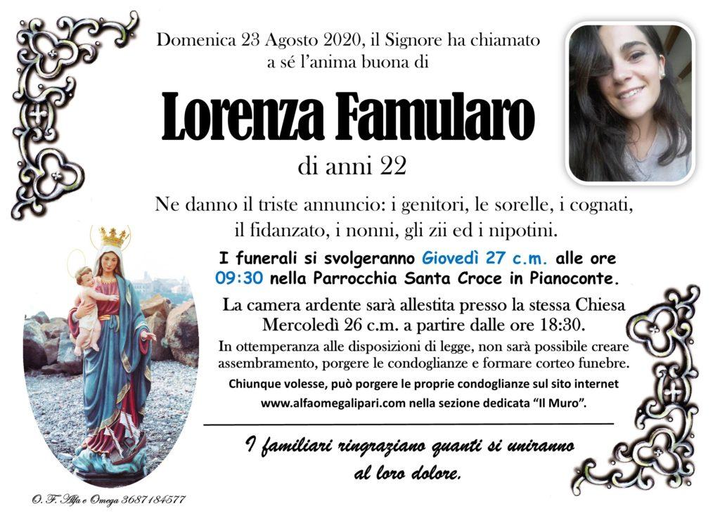 Lorenza: camera ardente a S.Croce dalle 18 di domani e funerali giovedì con lutto cittadino 1