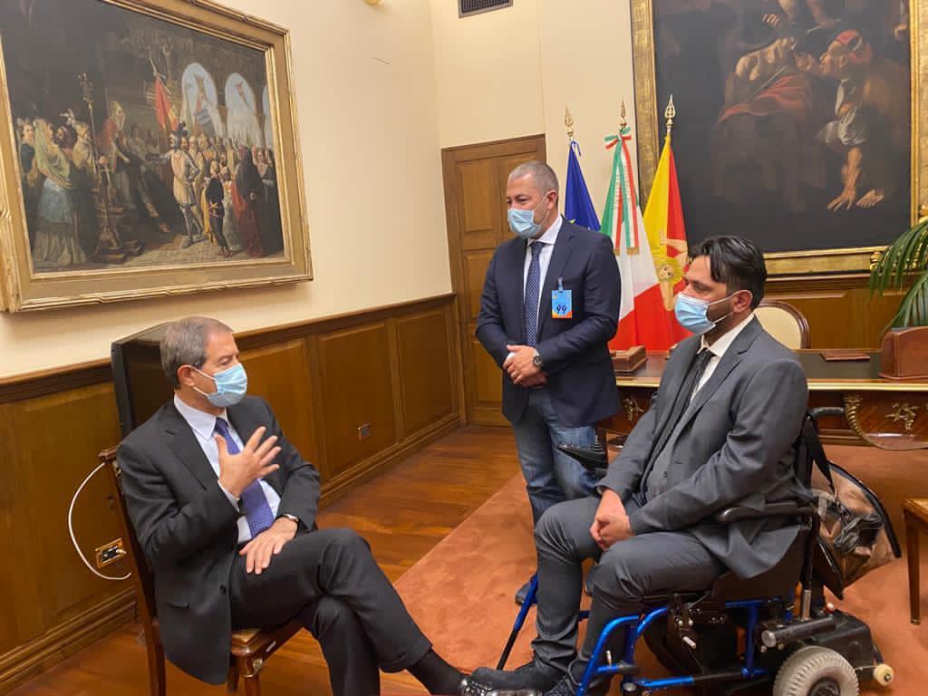 Sandro Biviano e Danilo Conti dal presidente Musumeci