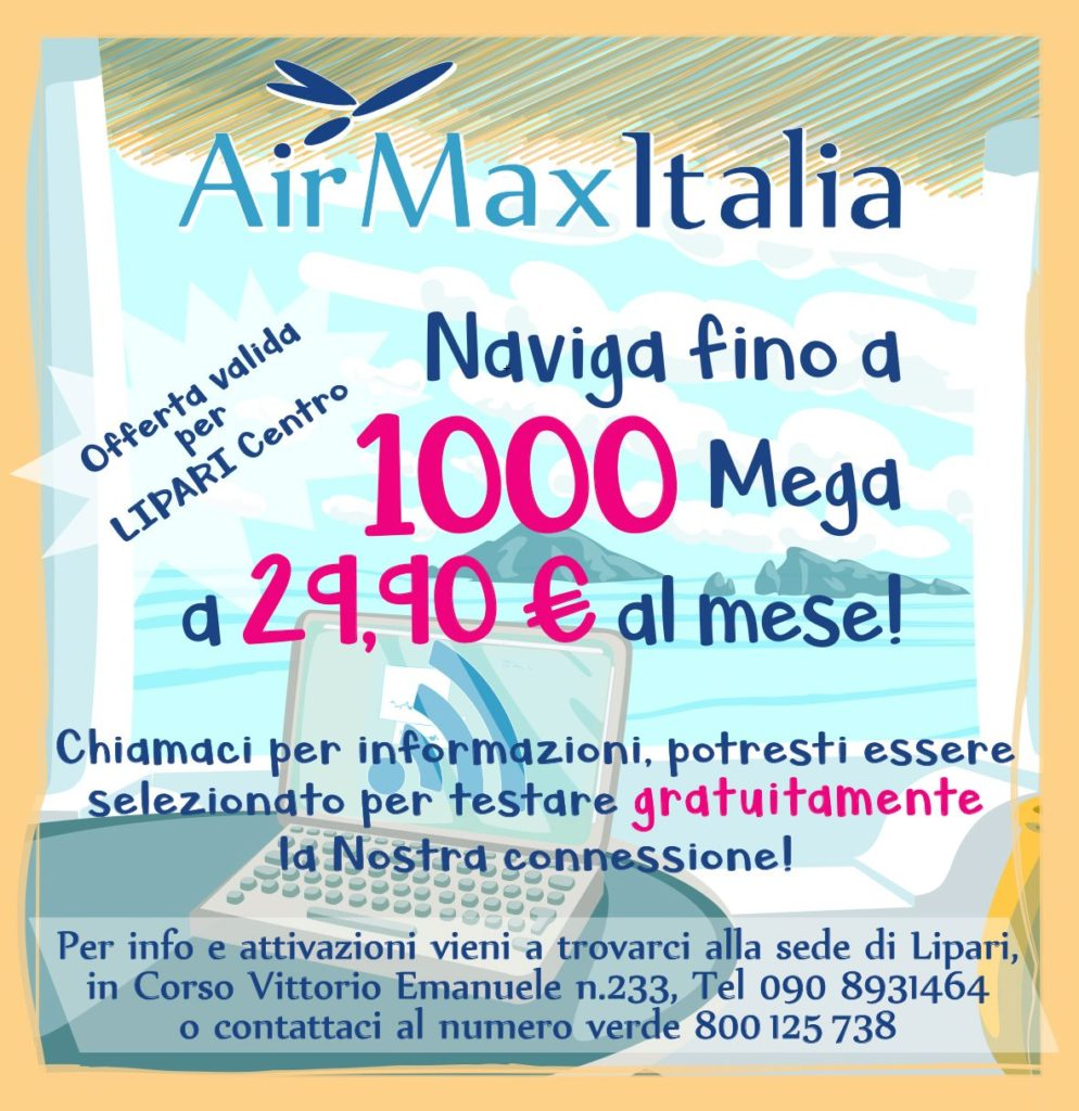 AirMaxItalia : fino a 1000 Mega a 29,90 € al mese