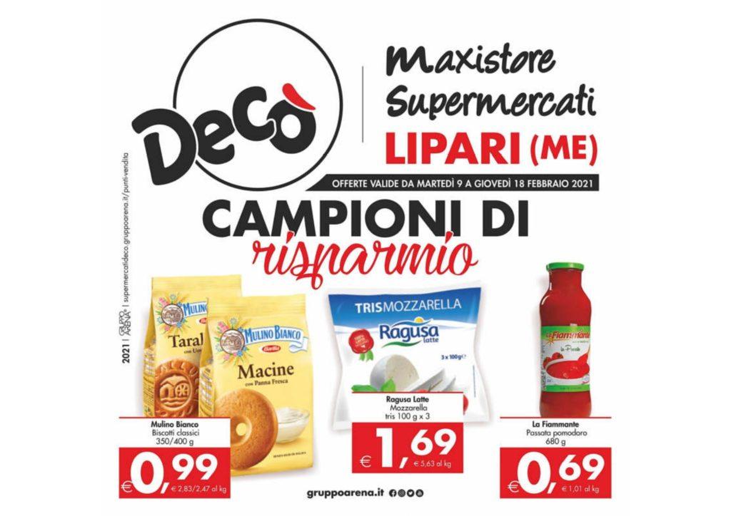 Supermercati Decò : offerte 9/18 febbraio 5
