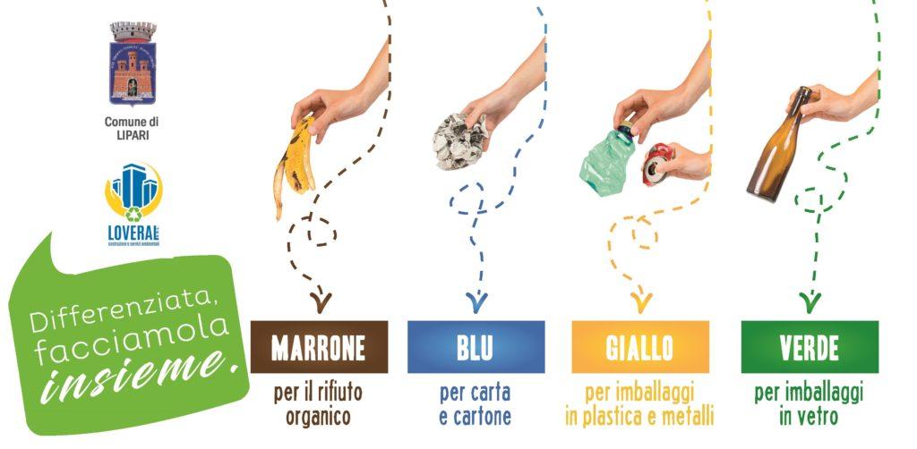 """""""Lipari Differenzia"""" : parte il nuovo calendario di conferimento rifiuti ed il nuovo metodo di raccolta Porta a Porta"""