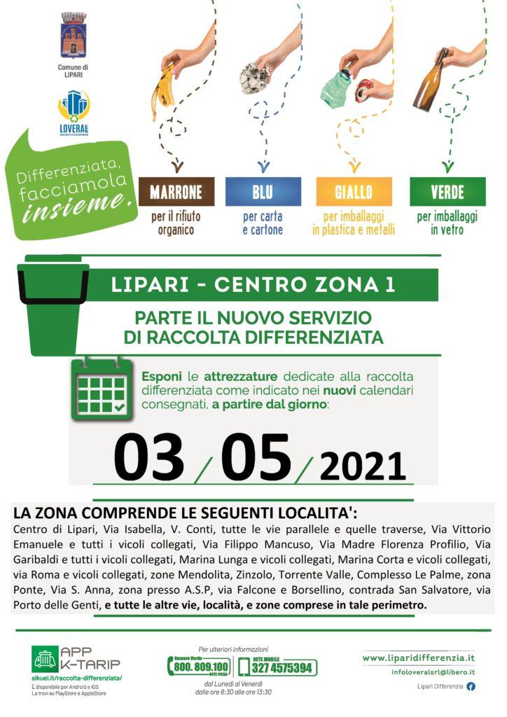 Da lunedì 3 maggio parte la raccolta differenziata a Lipari centro e Vulcano 1