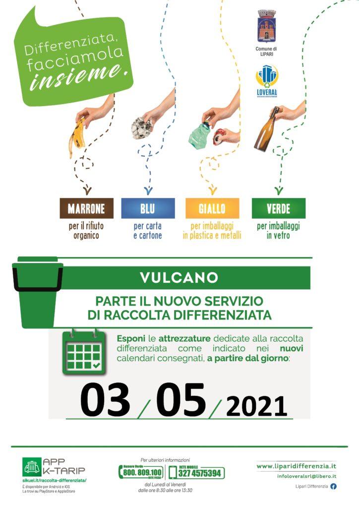 Da lunedì 3 maggio parte la raccolta differenziata a Lipari centro e Vulcano