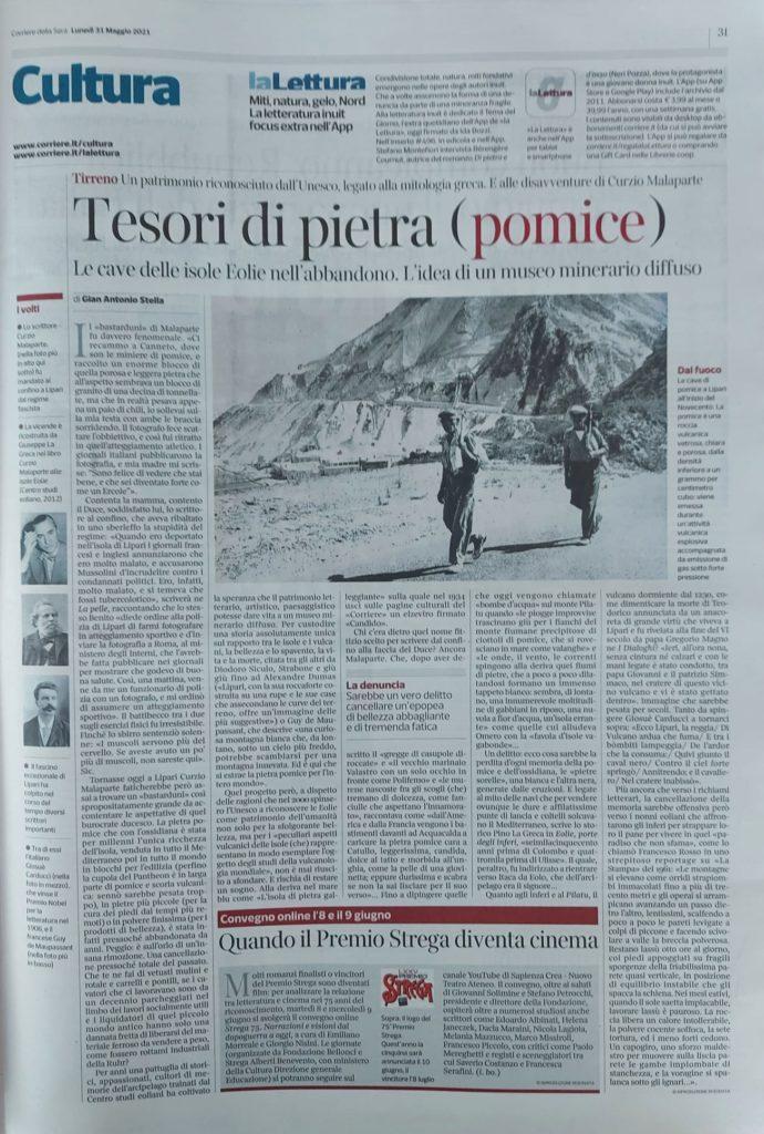 Lipari, sul Corriere della Sera i tesori di pietra pomice in abbandono e l'idea di un museo minerario diffuso
