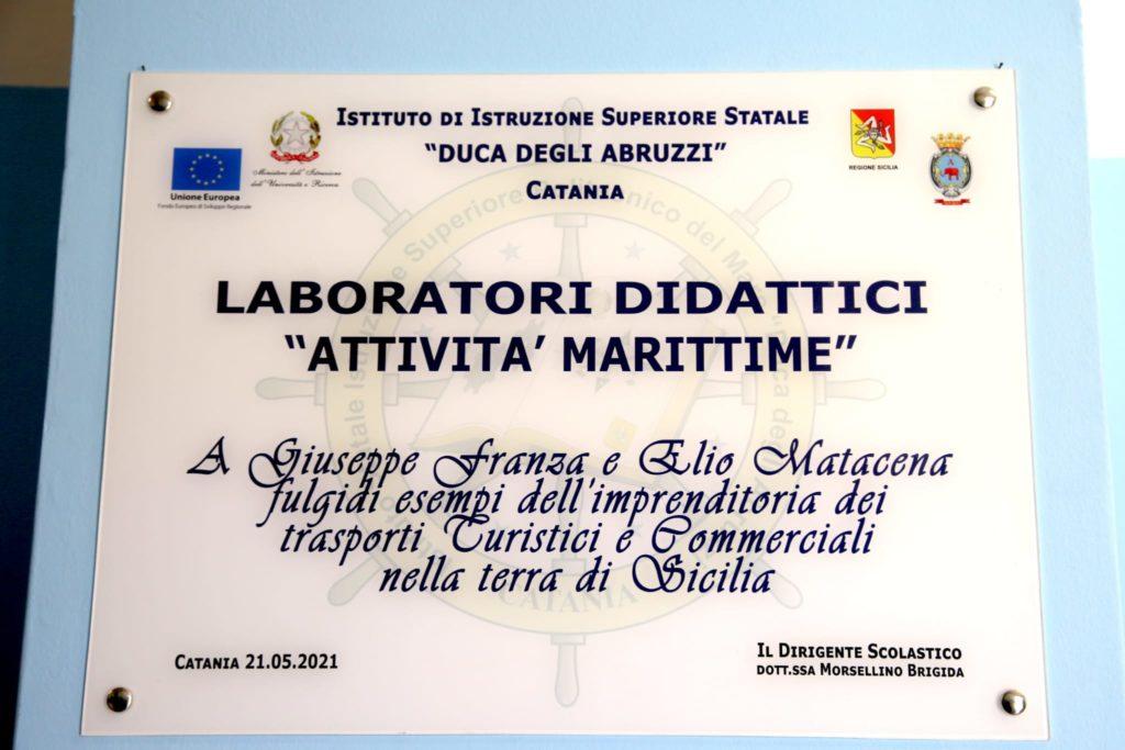 Politecnico del Mare Catania intitola spazio laboratori ai fondatori di C&T Franza e Matacena